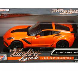 Motormax Timeless Legends 2019 C7 Corvette ZR1 1/24 Diecast | Orange