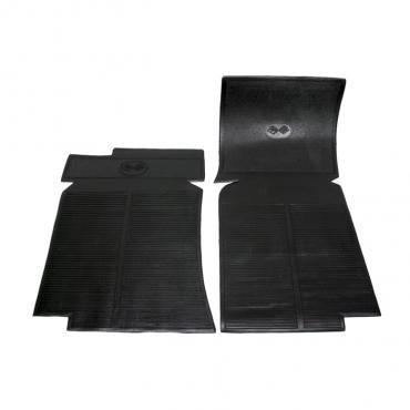 Corvette Rubber Floor Mats, Black, 1968-1982