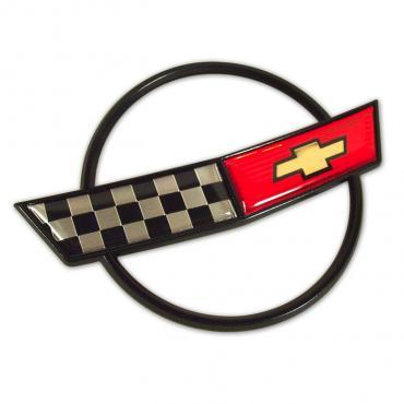 Corvette Hood Emblem, Topside, 1984-1990