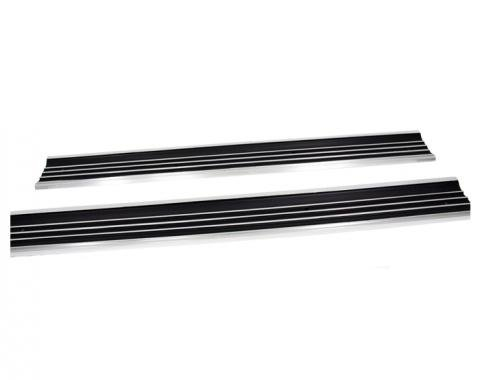 Corvette Door Sill Plates, Pair, 1968-1977
