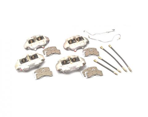 Corvette Brake Overhaul Kit, with Remanufactured O-Ring Calipers, 1965-1982