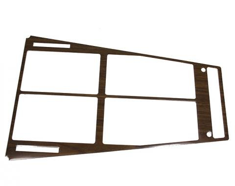 Corvette Console Trim Insert, Wood, Without Air Conditoning, 1972-1975