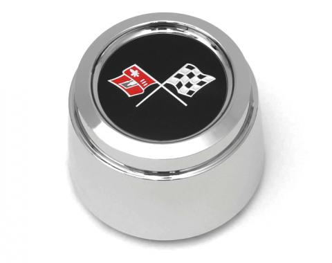 Corvette Wheel Center Cap, Chrome, With Emblem, For Cars With Aluminum Wheels, Pace Car, 1978