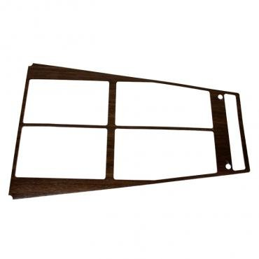 Corvette Console Wood Trim Insert, For Cars With Air Conditioning, 1972-1975