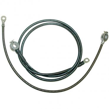 Corvette Spring Ring Battery Cables, Small Block or Big Block, With Air Conditioning, 1966-1967