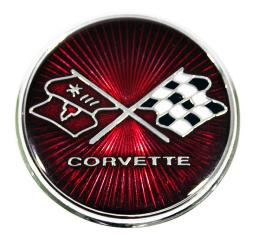 Corvette Gas Door Emblem, 1975-1976