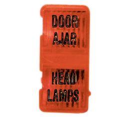 Corvette Door Ajar Warning Lens, 1969-1971