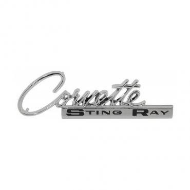 Corvette Glove Box Door Emblem, 1964-1965