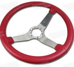 Corvette Steering Wheel, Red Reproduction Satin (24), 1977-1979