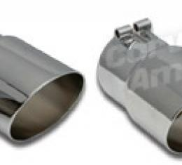 Corvette Exhaust Extensions, Angle Cut 100% Stainless Steel, 1985-1991
