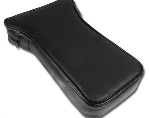 Corvette Driver Center Armrest, Black Leather, 1967-1982
