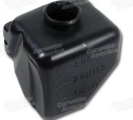 Corvette Washer Bottle, Black Without Air Conditioning, 1968-1969