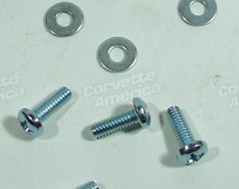 Corvette Convertible Top Rear Pin Screw Set, 1963-1967