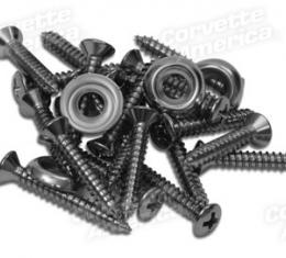 Corvette Door Panel Screws/Washers, 26 Piece Set, 1958-1962