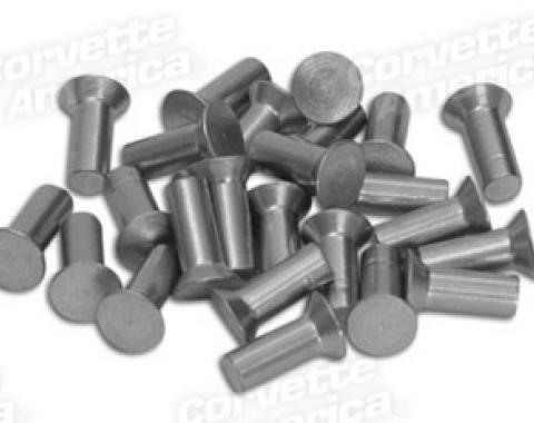 "Corvette Body Assembly Rivets, 25 Piece, Countersunk Flat Head 3/16"" X 1/2"", 1953-1967"