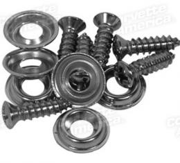 Corvette Package Tray Support Screws, 12  Piece, 1959-1962