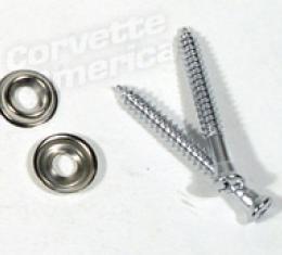 Corvette License Light Housing Screws, 4 Piece, 1956-1960