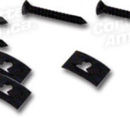 Corvette Rocker Panel End Screws/Nuts, 8 Piece St, 1963-1967