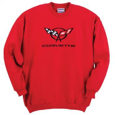 Sweatshirt, Red C5 Crew