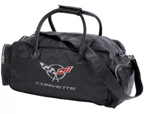 Corvette Black Duffle Bag, with C5 Logo, 24""