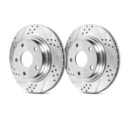 Corvette Front Brake Rotor, Power Stop, Extreme Performance Drilled & Slotted, Z06, 2006-2013