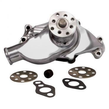 Corvette Water Pump Small Block, Polished Aluminum, 1966-1970