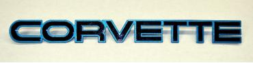 Corvette Emblem, Rear, Medium Blue, 1984-1986