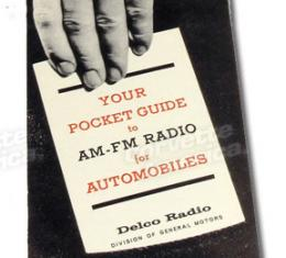 Corvette Pocket Guide, AM/FM, 1965