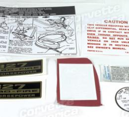 Corvette Decal Set, 300HP with Knock Off Wheels 7 Piece, 1966