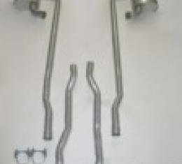 Corvette Exhaust System 2.5 Inch, Separate Secondary Pipe and Muffler, 4 Speed, 1964-1965