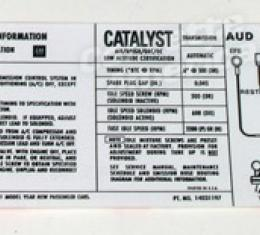 Corvette Decal, Emission Auto, 1981