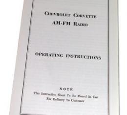 Corvette Instructions, Radio AM/FM, 1964