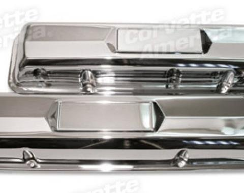 Corvette Valve Covers, Small Block, Chrome, 1962-1966