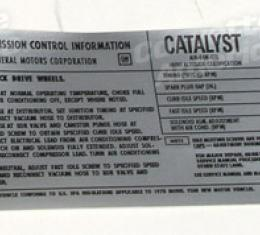 Corvette Decal, Emission L48 Hi-Alt, 1978