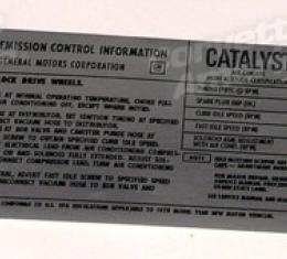Corvette Decal, Emission L48 California, 1978