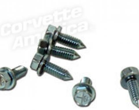 Corvette Battery Access Cover Bolts, with Air Conditioning 6 Piece, 1963-1967