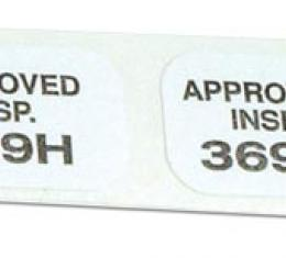 Corvette Decals, Heater Inspection 2 Piece Set, 1964-1967