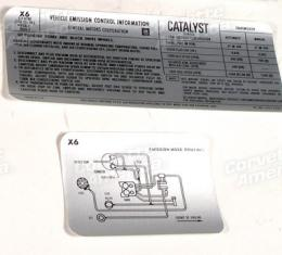 Corvette Decal, Emission L48 without AIR, 1979