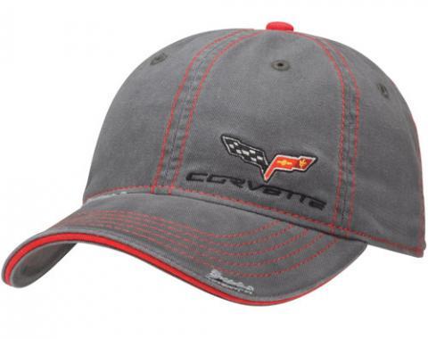 Corvette C6, Gray Washed Twill Cap