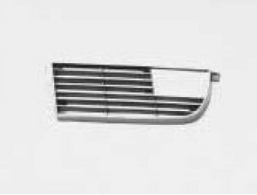 Corvette Front Grille, With Chrome Edge, Left, NOS 1973