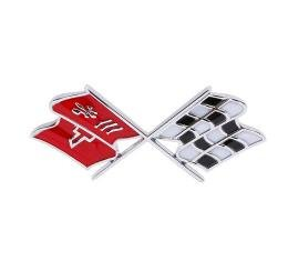 Trim Parts 68-72 Corvette Front X-Flag Emblem, Each 5955
