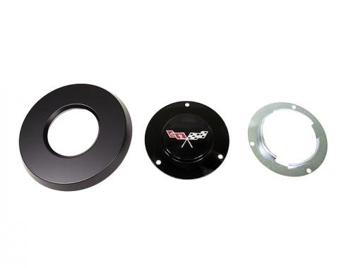 Corvette Horn Button Emblem Kit with Emblem, 1977-1979