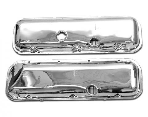 Corvette Valve Covers, Big Block Chrome Replacement, 1965-1974