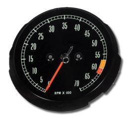 Corvette Tachometer, 6000 RPM, 1965-1967