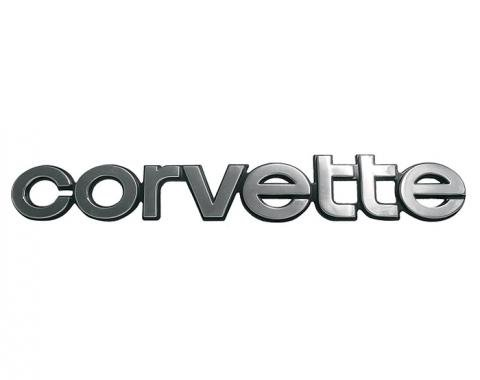 Corvette Rear Bumper Emblem, 1980-1982