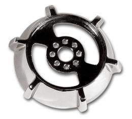 Corvette Lock Ring, Telescopic Chrome, 1965-1966