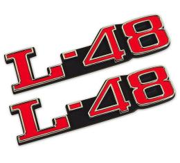 Trim Parts 73-82 Corvette Hood Emblem, L-48, Pair 5971