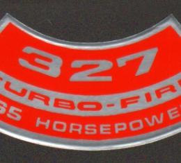 Corvette Air Cleaner Decal, 327ci/365HP, 1964-1965