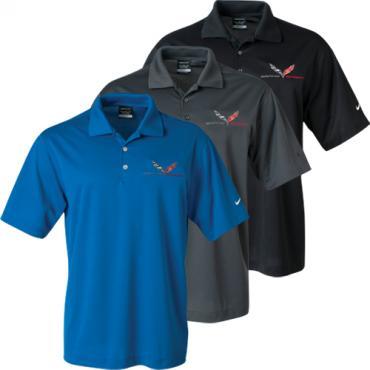 Corvette C7  Polo Shirt, Men's, Nike Dri-Fit, Grand Sport Emblem