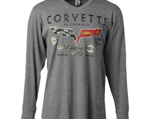 Corvette Decals, Men's Long Sleeve T-Shirt